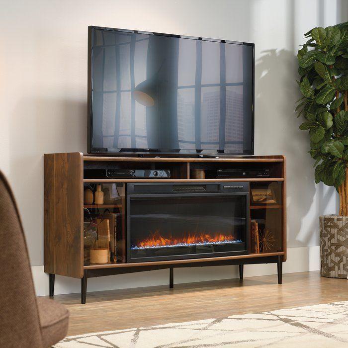 Meuble Tele Gutierrez Pour Televiseurs Jusqu 039 A 65 Pouces Avec Foyer Electrique Inclus Fireplace Entertainment Family Room Design Home Decor