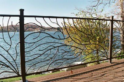 leaf branch cast iron fence panels - Google Search
