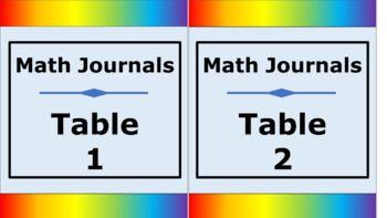 Student Journals Storage Labels - Tall - Noah's Rainbow