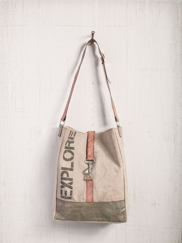 Explore - Reclaimed Canvas Tote Bag