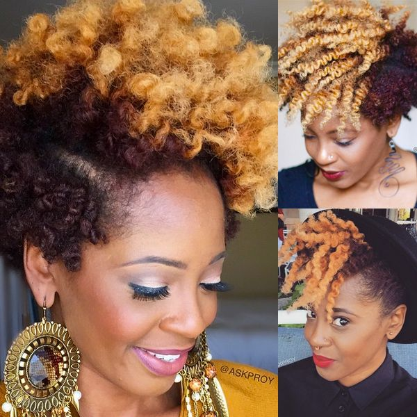 Two Toned Two Strand Twist Out