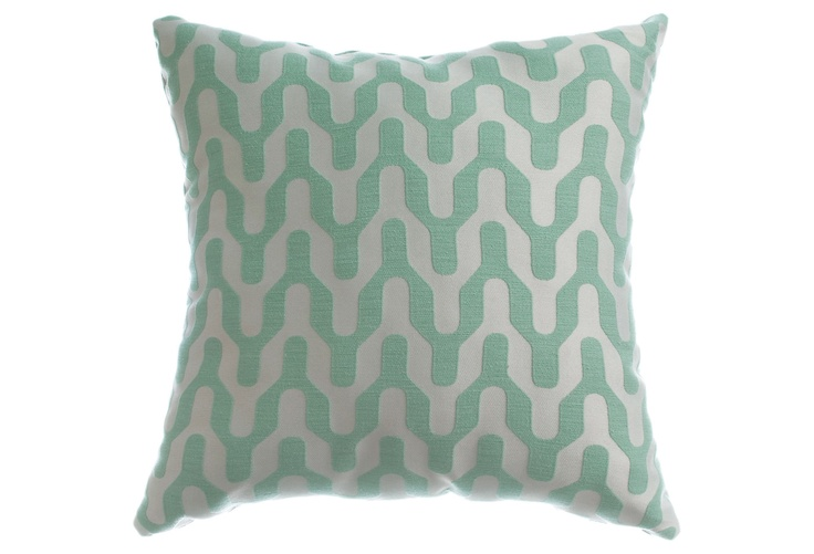 Vonn 18x18 Pillow, Sea Foam  SOFTLINE: Sea Foam, Colors Basements, Foam Colors, Home Decor, 18X18 Pillows, Mint Green Throw Pillows, Mint Colors, Geometric Pillows, Foam Pillows