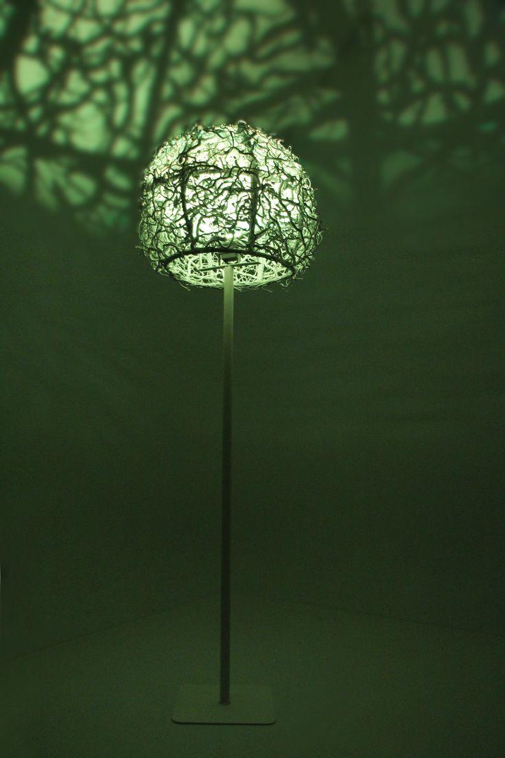 Decoratie lamp. staand, meerdere kleuren verstelbaar www.decoratietakken.nl