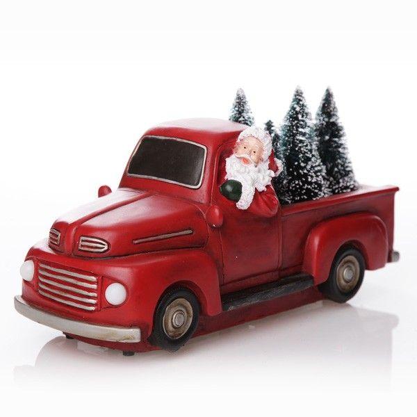 Santa in Red Ute Lightup Ornament
