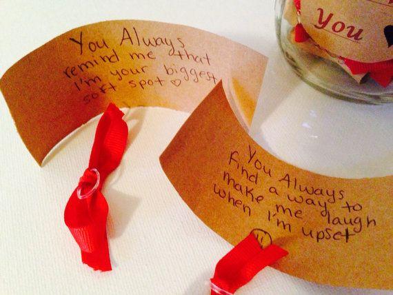 52 Gründe warum ich dich Geschenk in einem Glas von JOsPrettyPantry