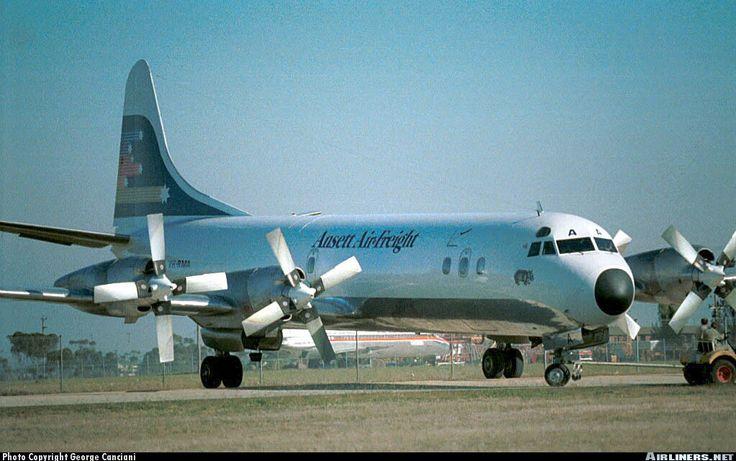 Ansett Air Freight Lockheed L-188A(F) Electra Melbourne - Tullamarine (MEL / YMML) Australia - Victoria, 1982