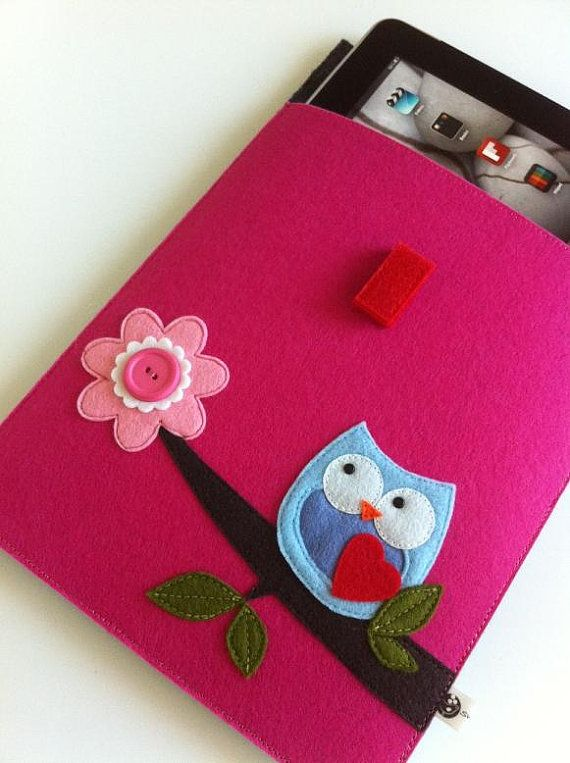 Felt Owl iPad Case