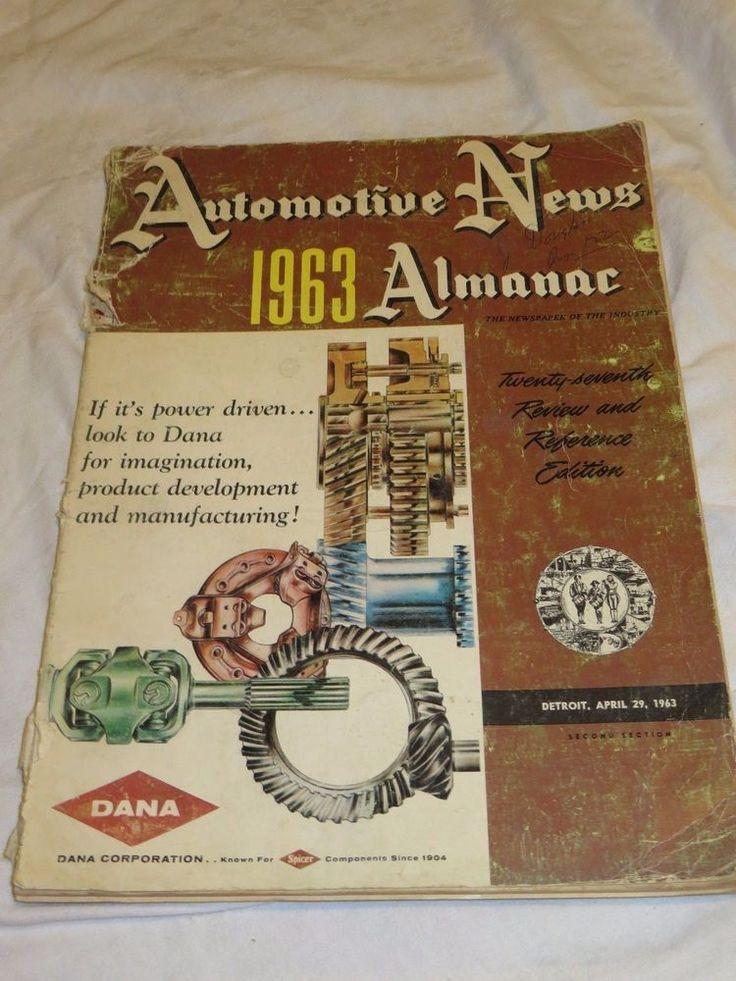 1963 Almanac AUTOMOTIVE NEWS Detroit April 29 27th Review & Reference Edition