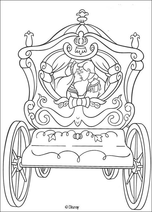 Coloring Page About Cinderella Disney Movie Nice Drawing Of Prince And Kiss