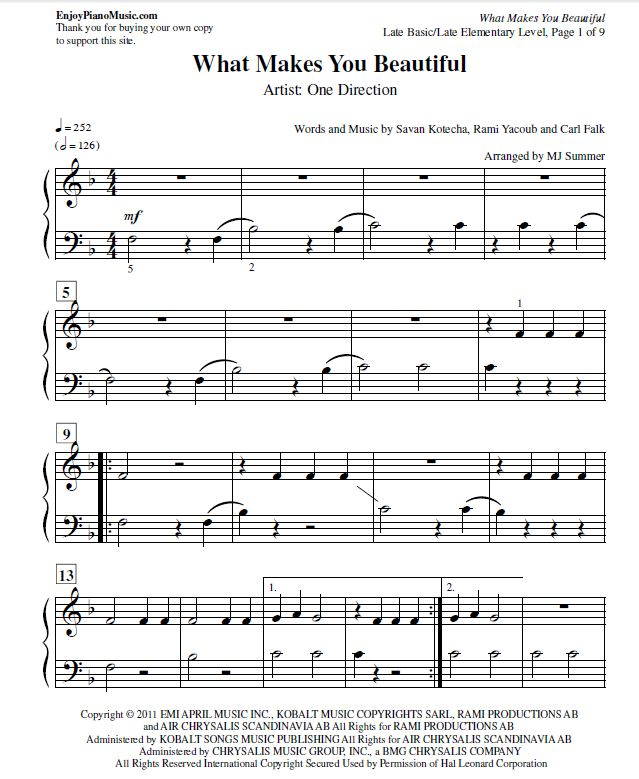 17 Best Images About Popular Songs Sheet Music On