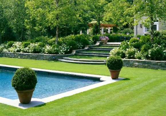 love the pool and the grassy steps