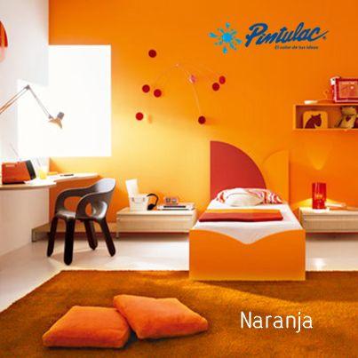 Pintar las paredes de naranja el naranja transmite - Habitaciones color naranja ...