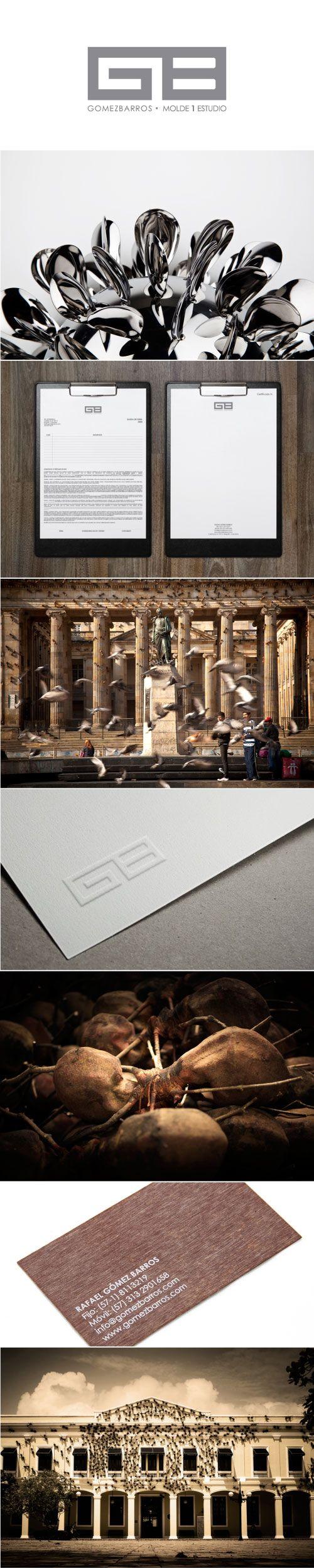 GomezBarros /  www.estudio201.com Molde 1 Estudio Diseño de identidad: logotipo, papelería, sellos, tarjetas de presentación. Dirección artística: Registro de obras de arte, composición de piezas gráficas.