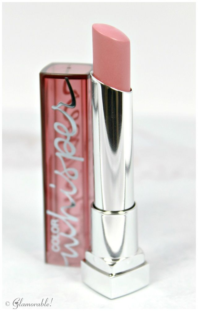 Maybelline Color Whisper Lipstick Lust for Blush Swatches and Review | via @Glamorable!