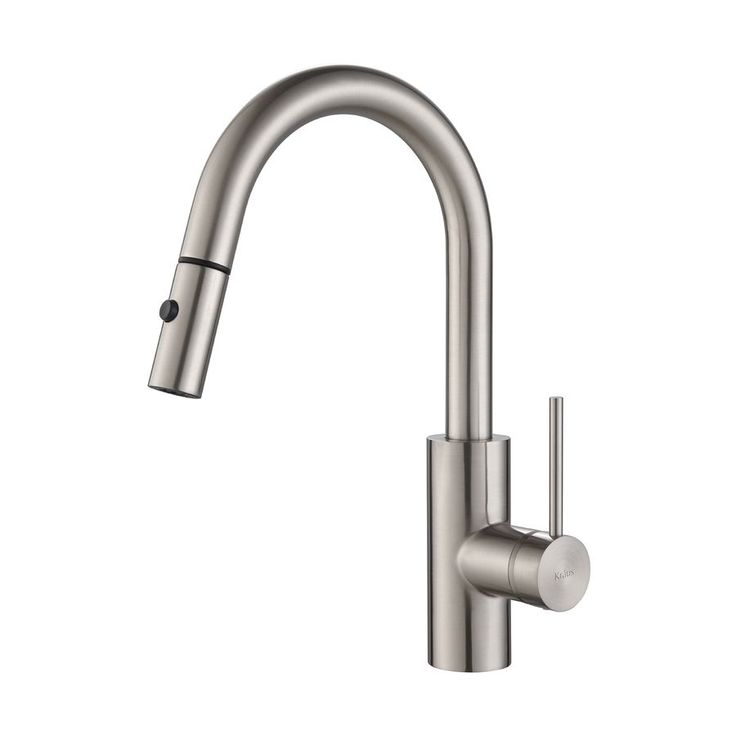 Kraus Mateo Stainless Steel 1-Handle Pull-Down Sink/Counter Mount Traditional Kitchen Faucet