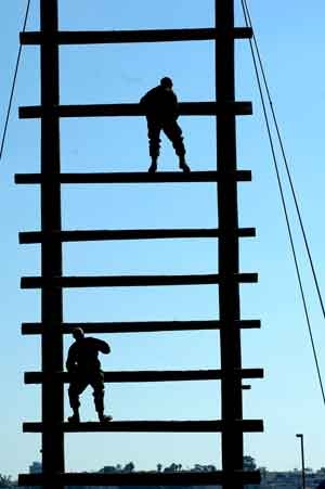 US Marine Corps Boot Camp Confidence Course