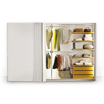 The only dressable wardrobe in the world. Find out all the available colours and finishings.
