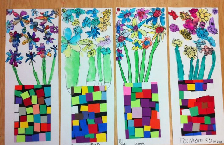 Apex Elementary Art flowers