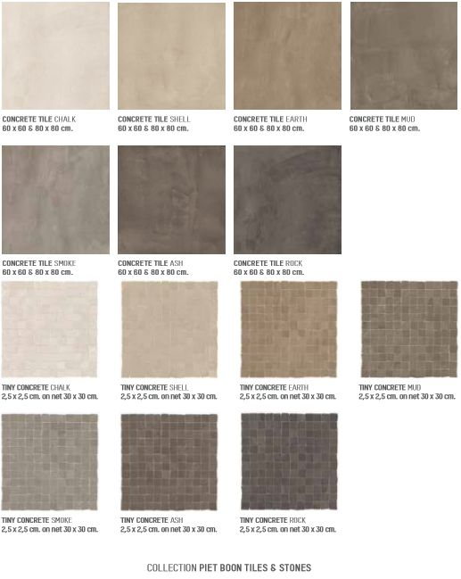 Concrete serie collectie piet boon tiles stones by douglas jones wellness pinterest - Badkamer beton wax ...