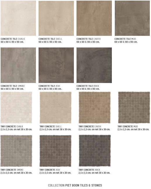 Concrete serie Collectie Piet Boon tiles