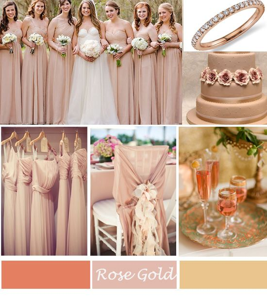 rose gold wedding inspirations for spring 2014 au