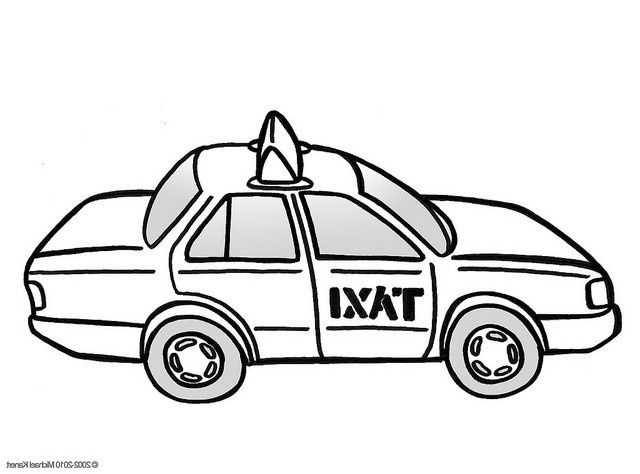 Taxi En Couleur Coloring Sheets Taxi