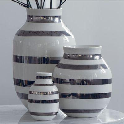 kahler vase i sølv - den minste. Fås kjøpt på Tilbords.