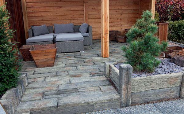 Timberstone replica, imitatie houten terrastegels | Marshalls