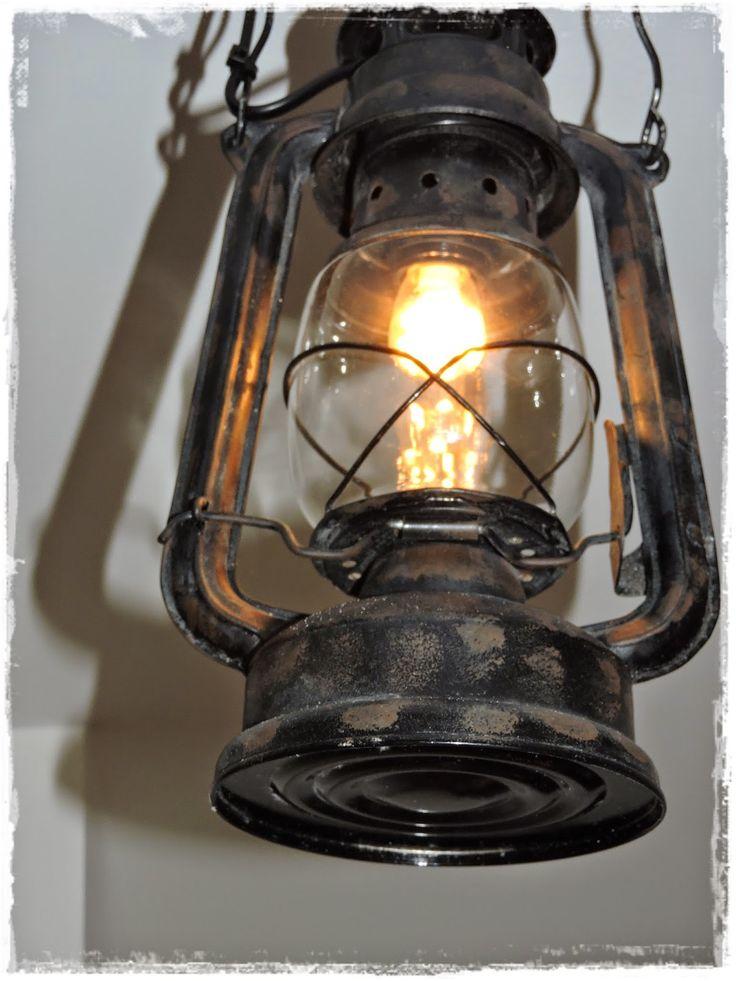 Egengjord lantlig lampa