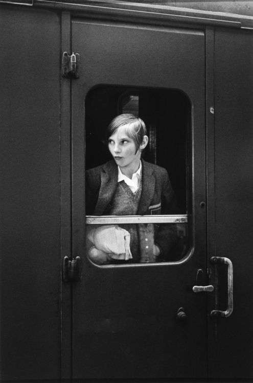 Girl on train, Eva Rubinstein, London, 1969