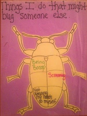 "What Bugs you/ What do I do that might bug others? ""Friendship Bugs"" Lesson plan with story and activity"