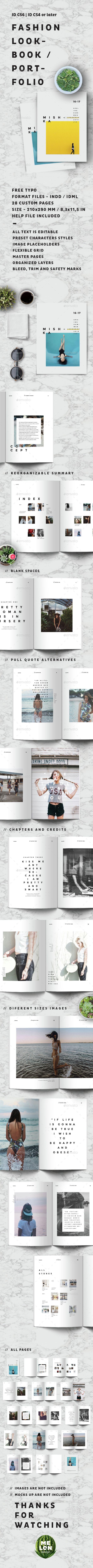 Fashion Lookbook / Portfolio — InDesign INDD #lookbook #catalogue • Availabl...