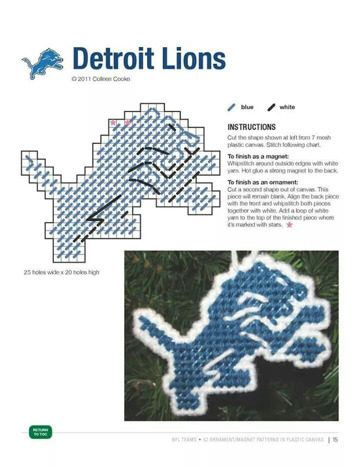 DETROIT LIONS ORNAMENT/MAGNET https://www.fanprint.com/licenses/detroit-lions?ref=5750