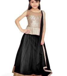 Buy Black Soft Net kids-lehenga-choli kids-lehenga-choli online