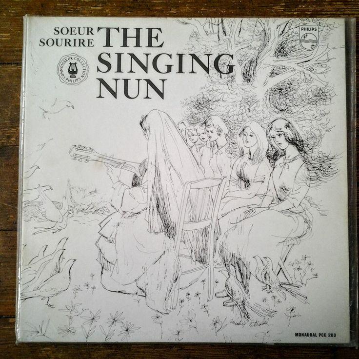 1962 The Singing Nun Sœur Sourire Sister Luc-Gabrielle Jeanne Deckers; vinyl record PCC 203. Phillips Records