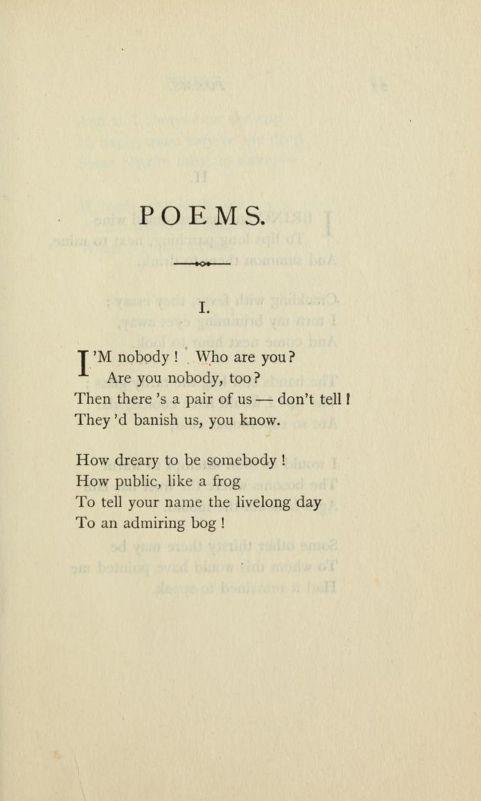 Emilyinson Poems Third