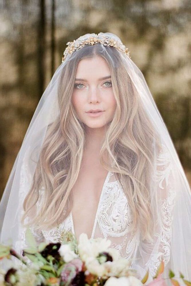 42 Dreamy Wedding Hairstyles With Veil Veil Hairstyles Wedding