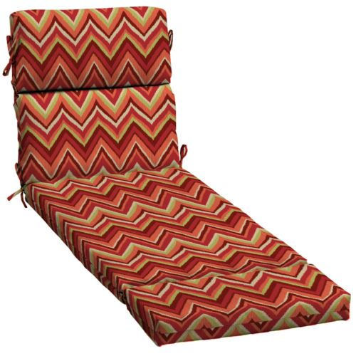 Garden-Treasures-Red-Flame-Stitch-Patio-Chaise-Lounge-Cushion-23-by-73-inches