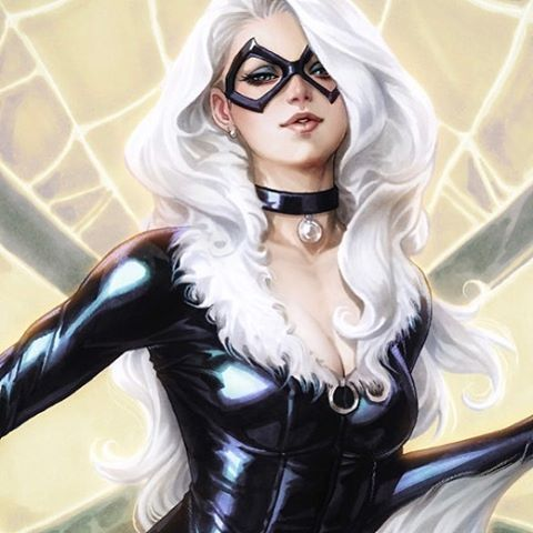 """Stanley Artgerm™ Lau (@artgerm) on Instagram: """"My first comic cover for 2017 and my first Black Cat cover. :) #blackcat #marvel"""""""