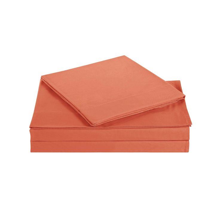 Orange Twin Xl 4 Piece Sheet Set