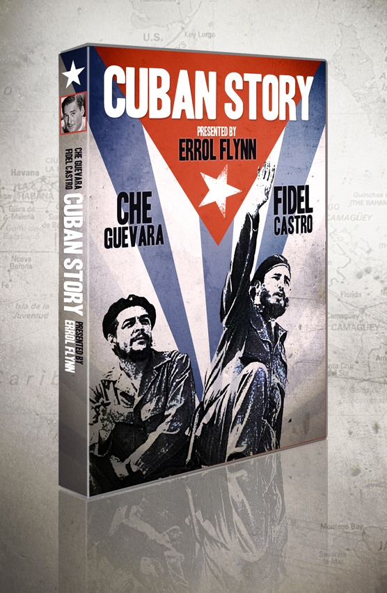 Cuban Story DVD design. Cuban Story takes an astonishing look at the Cuban Revolution, from the inside. This documentary owes quite a bit to fate. Writer-producer Victor Pahlen and film star Errol Flynn owned a business in Cuba when the revolution broke out. Realizing they had an amazing opportunity on their hands, they stayed, hung out with the revolutionary troops, and filmed right through Castro's ascent.