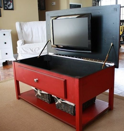 this would not be too hard to do in a Living room! Just need a cabinet with depth which could be an issue