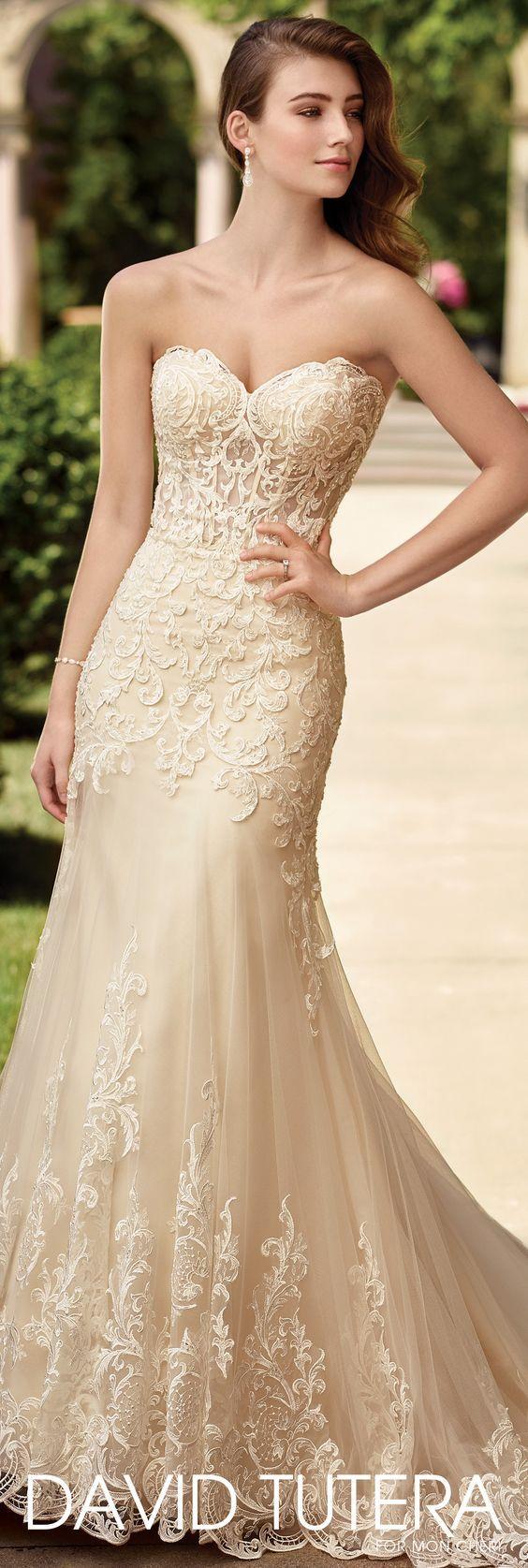 Wedding Dress by David Tutera for Mon Cheri 2017 Bridal Collection | Style No. » 117278 Oria