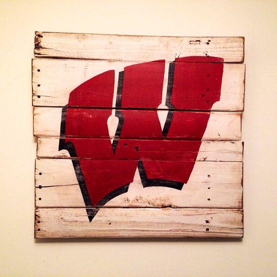 University of Wisconsin Flying W Wall Hanging by PalletsandPaint, $40.00