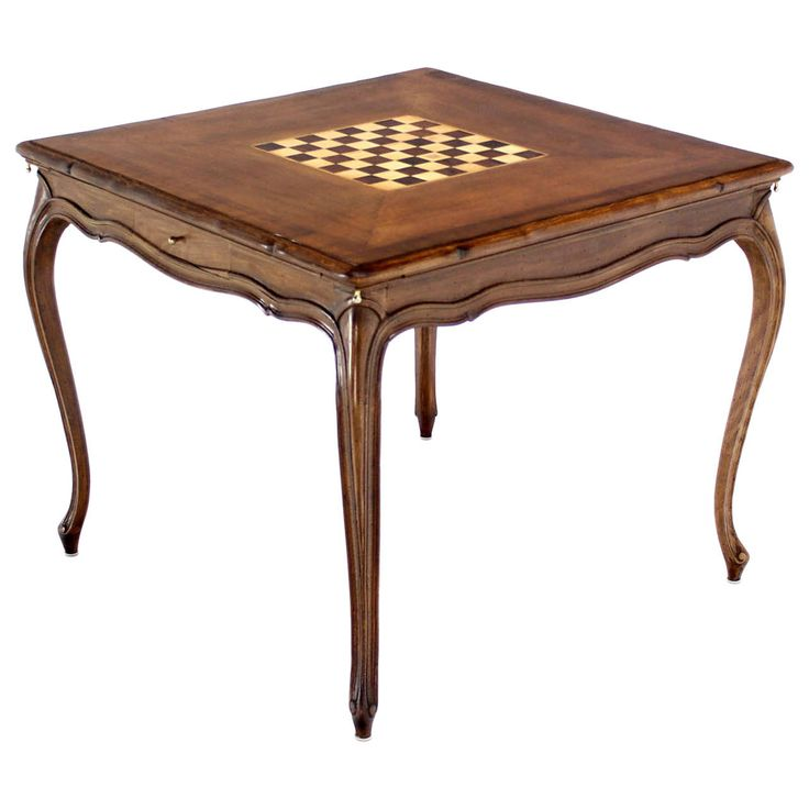Captivating Walnut Game Table With Built In Chess Board