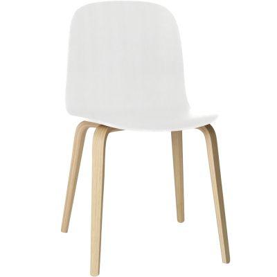 Visu stol träben, vit/ek från Muuto – Köp online på Rum21.se
