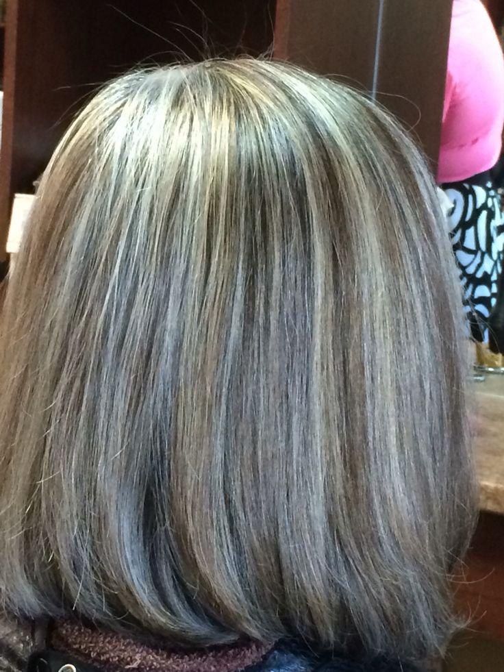 Grey Hair Hilight Blend Turquoise Hair Hair Highlights