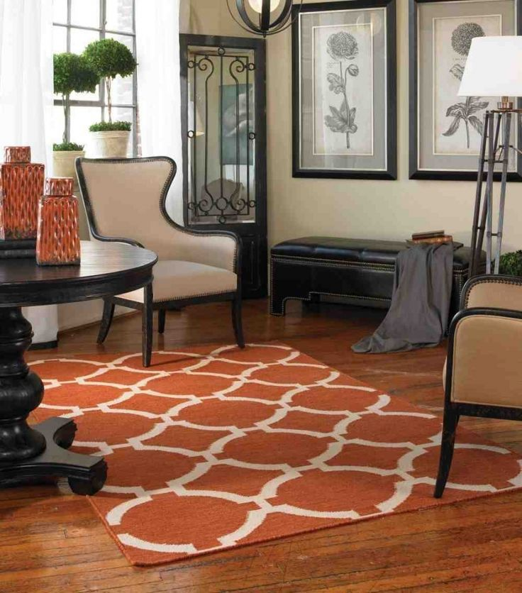Modern Orange White 6x9 Area Rug Rugs For Living RoomVancouverArea