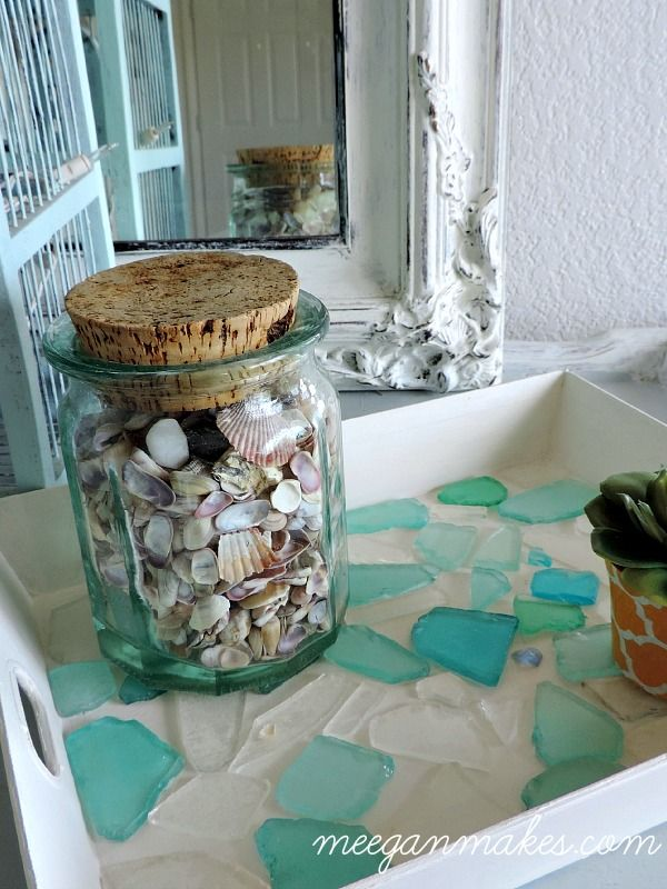 DIY Sea Glass Tray