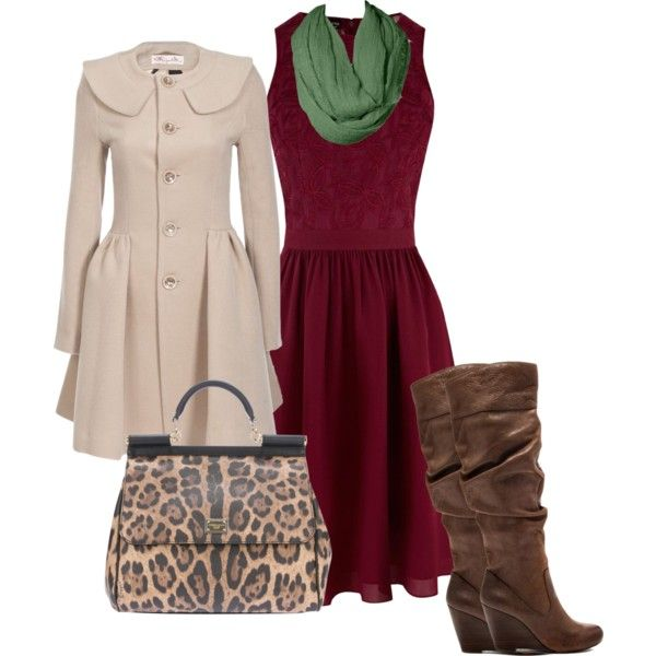 fall or winter sunday church outfit